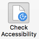 Accessibility Checker menu item in PowerPoint